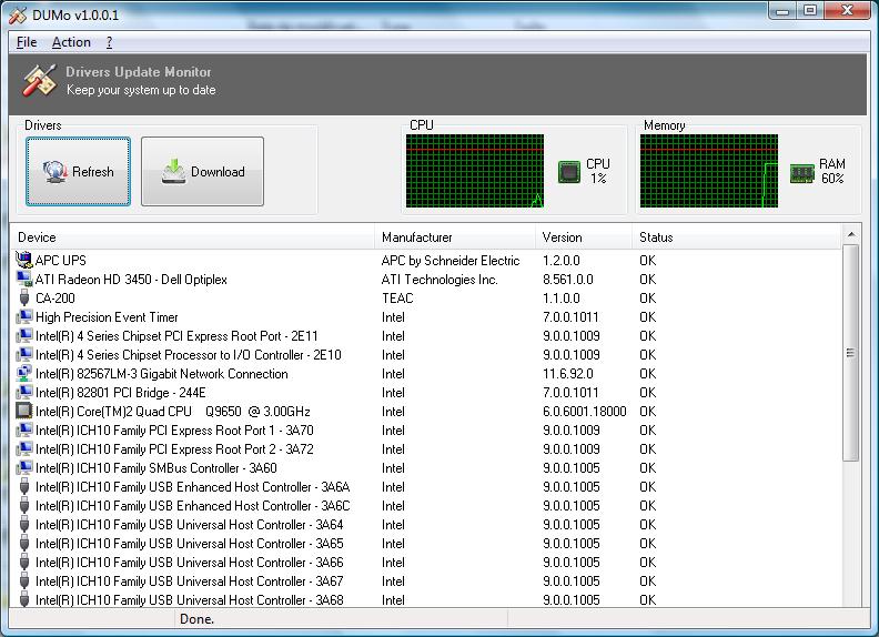 DUMo full screenshot